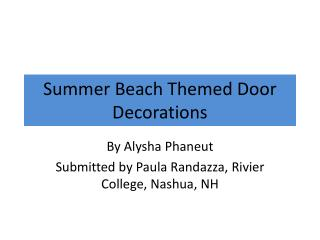 Summer Beach  Themed Door Decorations