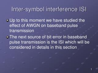 Inter-symbol interference ISI