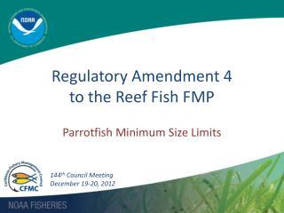 Regulatory Amendment 4  to the Reef Fish FMP