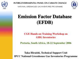 Emission Factor Database EFDB