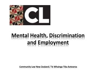 Mental Health,  Discrimination  and Employment