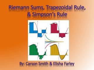 Riemann Sums, Trapezoidal Rule, & Simpson's Rule
