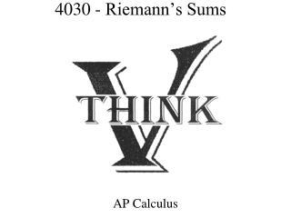 4030 - Riemann's Sums