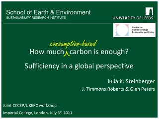 How much   carbon is enough? Sufficiency in a global perspective