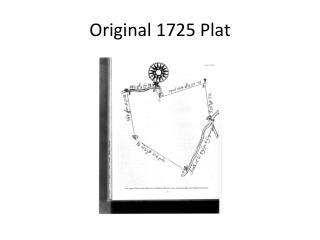 Original 1725 Plat