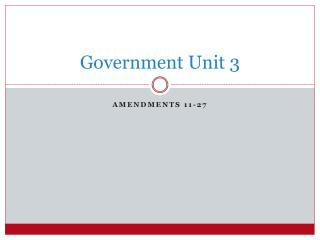 Government Unit 3