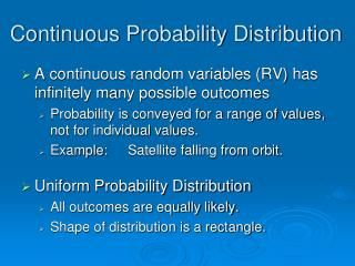 Continuous Probability Distribution