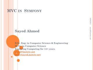 MVC in   Symfony