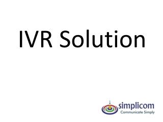 IVR Solution
