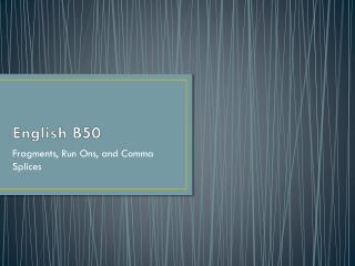 English B50