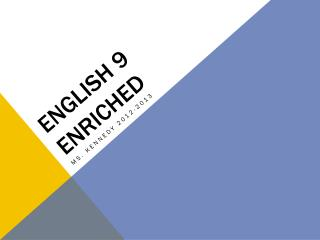 English 9 Enriched