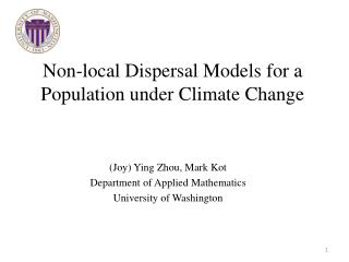 Non-local Dispersal Models  for a Population under Climate Change