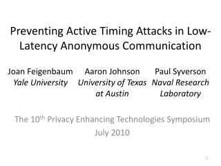 Preventing Active Timing Attacks in Low-Latency Anonymous Communication