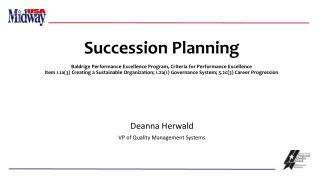 Deanna Herwald VP of Quality Management Systems