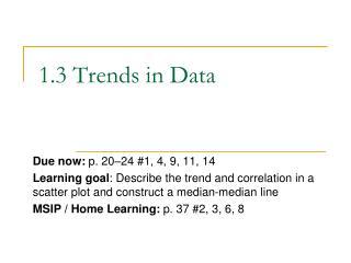 1.3 Trends in Data