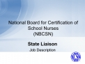 National Board for Certification of School Nurses NBCSN