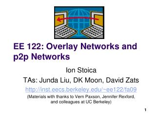 EE 122 : Overlay Networks and p2p Networks