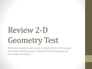 Review 2-D Geometry Test