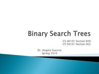 Binary Search Trees