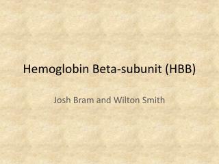 Hemoglobin Beta-subunit (HBB)