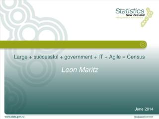 Large + successful + government + IT + Agile = Census