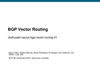 BGP Vector Routing