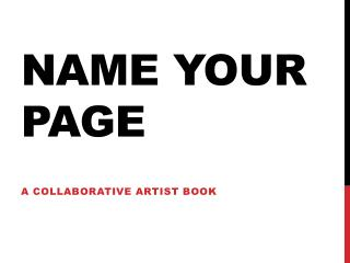 Name your page
