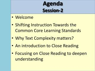 Agenda  Session-2