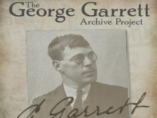 Who is George Garrett?`