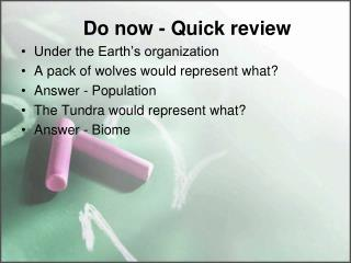 Do now - Quick  review