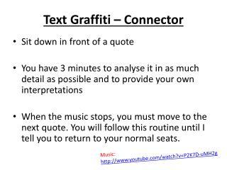 Text Graffiti – Connector