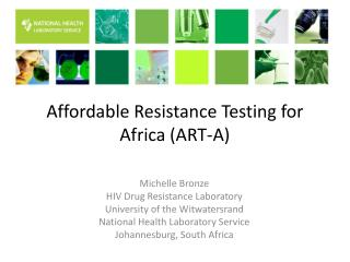 Affordable Resistance Testing for Africa (ART-A)