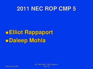 2011 NEC ROP CMP 5