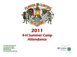 2011 4-H Summer Camp Attendance