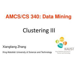 AMCS/CS 340: Data Mining