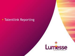 Talentlink Reporting