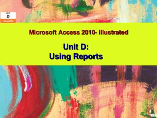 Microsoft  Access  2010- Illustrated