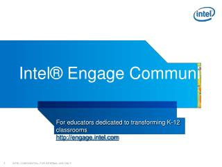 Intel� Engage Community