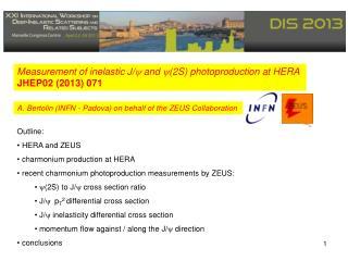 Outline:  HERA and ZEUS  charmonium production at HERA