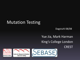 Mutation  Testing Dagstuhl  08/08