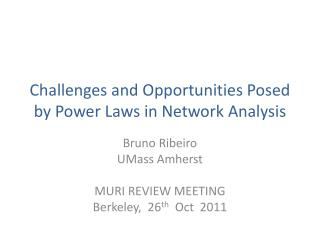 Challenges and Opportunities Posed by Power Laws in Network Analysis