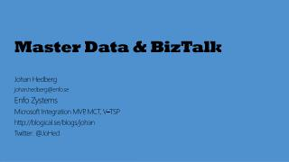 Master Data & BizTalk