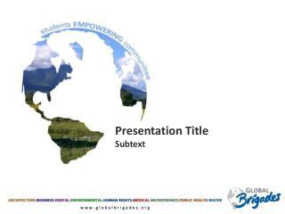 Presentation Title Subtext