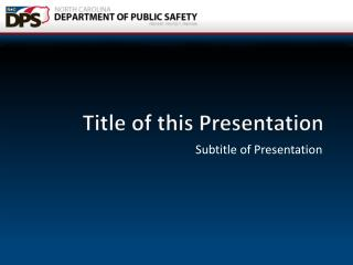 Title of this Presentation