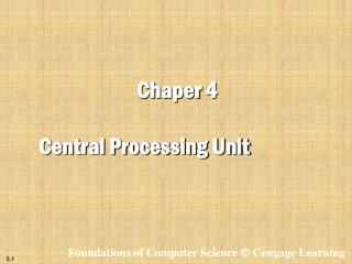 Chaper  4 Central Processing Unit