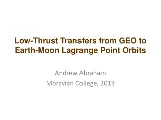 Low-Thrust Transfers from GEO to Earth-Moon Lagrange Point Orbits