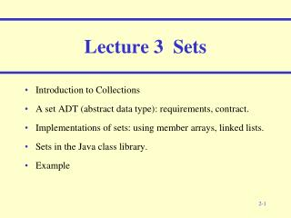 Lecture  3   Set s