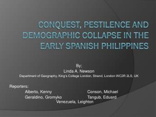 Conquest, pestilence and demographic collapse in the early Spanish Philippines