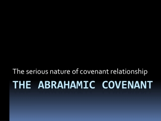 God s Covenant Name and Covenant Promises