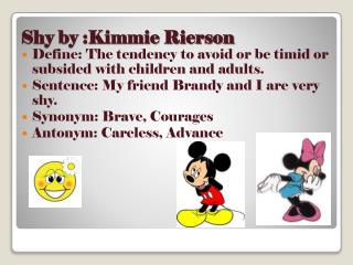 Shy by :Kimmie Rierson